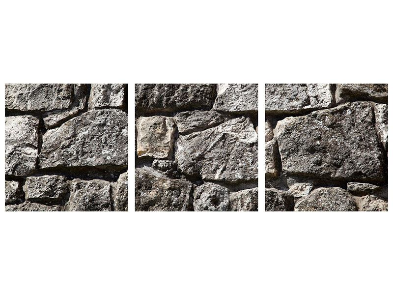 Panorama Poster 3-teilig Grosses Mauerwerk