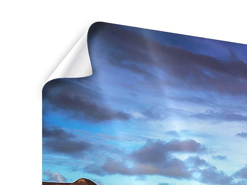 Panorama Poster 3-teilig Traumhaus im Wasser
