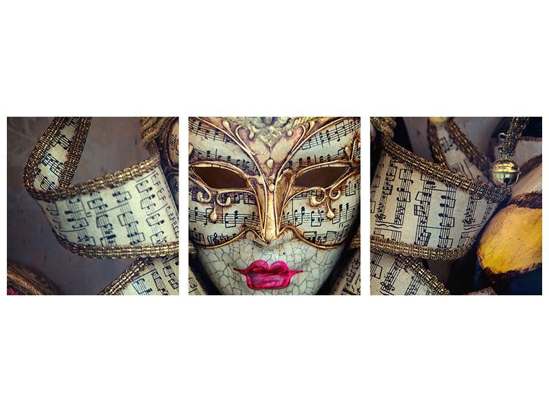 Panorama Poster 3-teilig Venezianische Maske