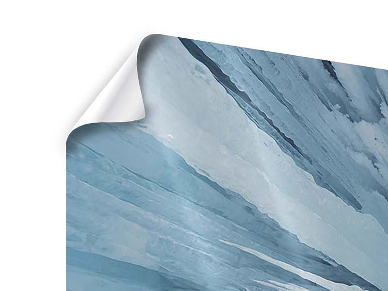 Panorama Poster 3-teilig Eiskunst