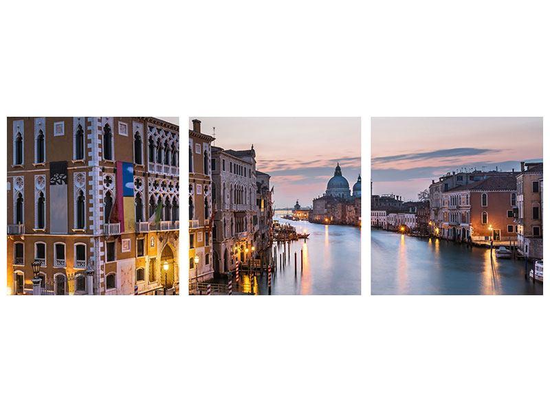 Panorama Poster 3-teilig Romantisches Venedig