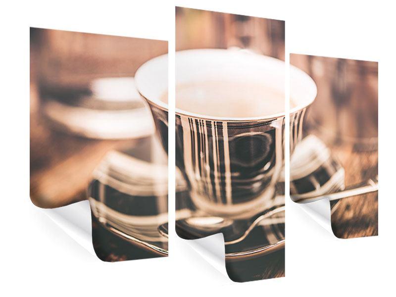 Poster 3-teilig modern Der Kaffee ist fertig