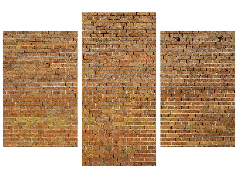 Poster 3-teilig modern Backsteinhintergrund