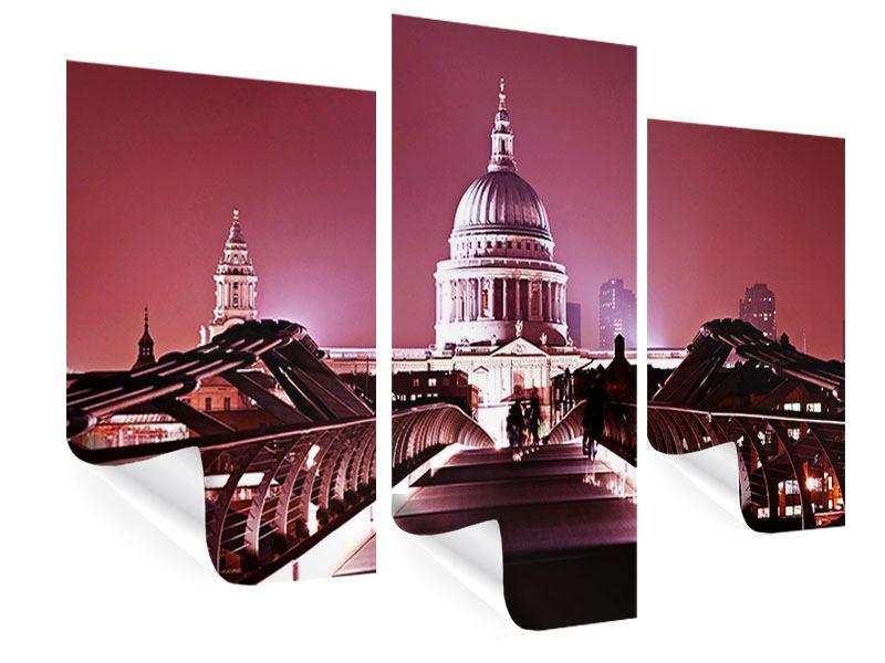 Poster 3-teilig modern Millennium Bridge