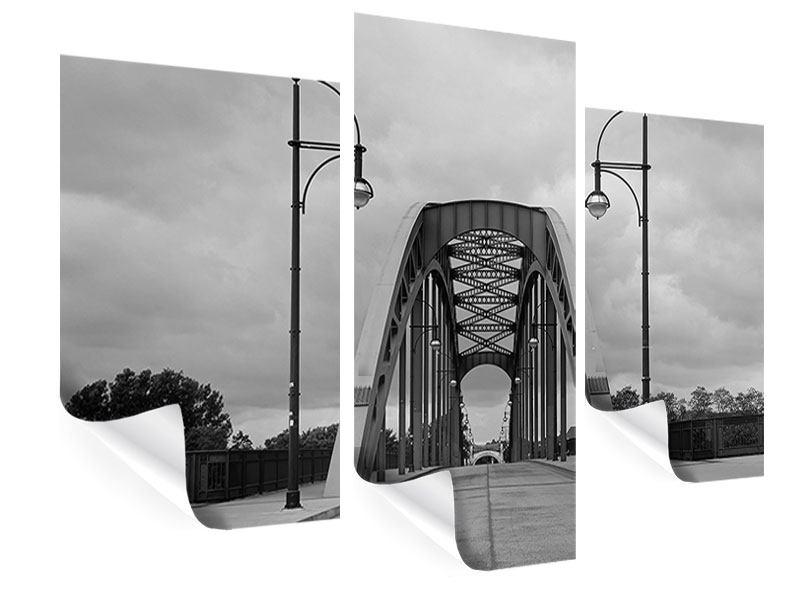 Poster 3-teilig modern Poetische Brücke
