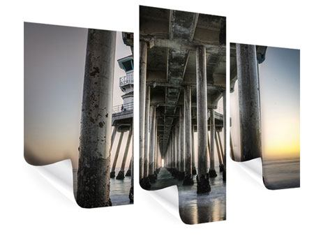 Poster 3-teilig modern Brückenpfeiler