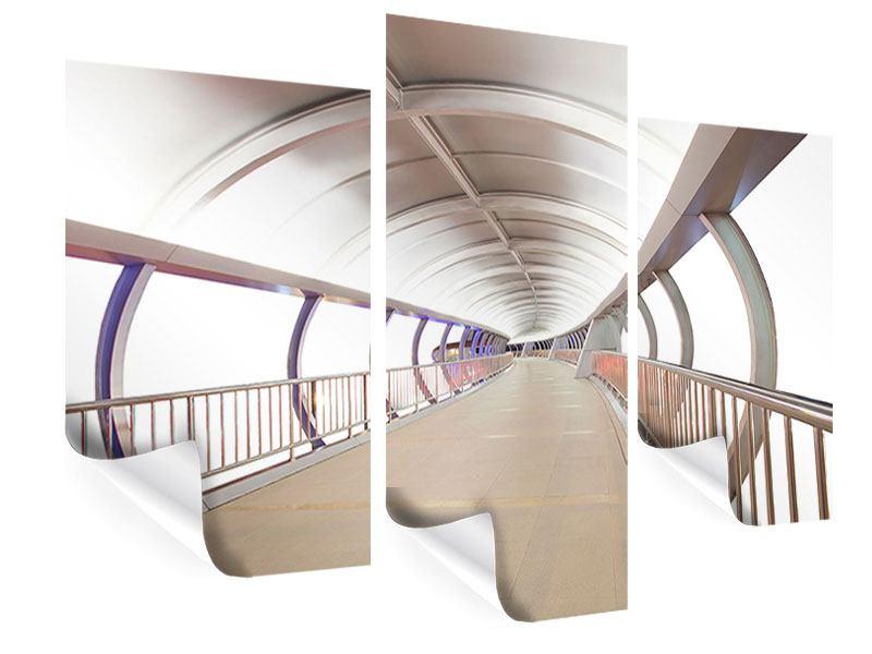Poster 3-teilig modern Brückenfeeling