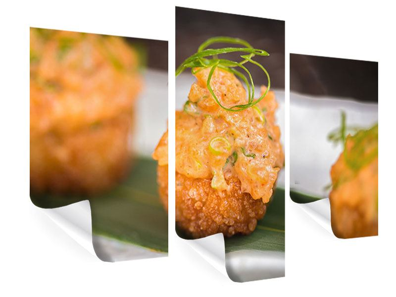 Poster 3-teilig modern Asiatische Küche