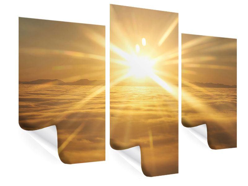 Poster 3-teilig modern Über dem Wolkenmeer
