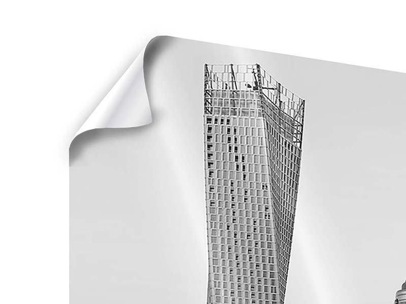 Poster 3-teilig modern Majestätische Wolkenkratzer in Dubai