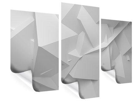 Poster 3-teilig modern 3D-Raster