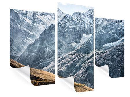 Poster 3-teilig modern Gigantische Berggipfel