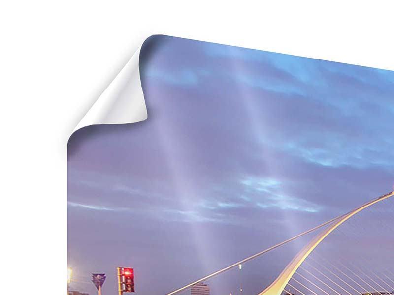 Poster 3-teilig modern Samuel Beckett Bridge