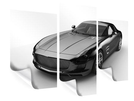 Poster 3-teilig modern 007 Auto