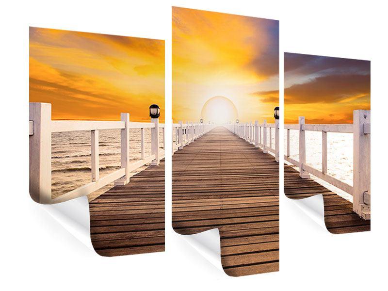 Poster 3-teilig modern Die Brücke Ins Glück