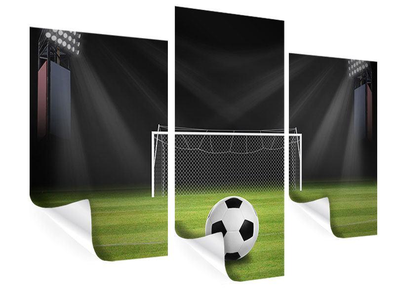 Poster 3-teilig modern Fussball-Tor
