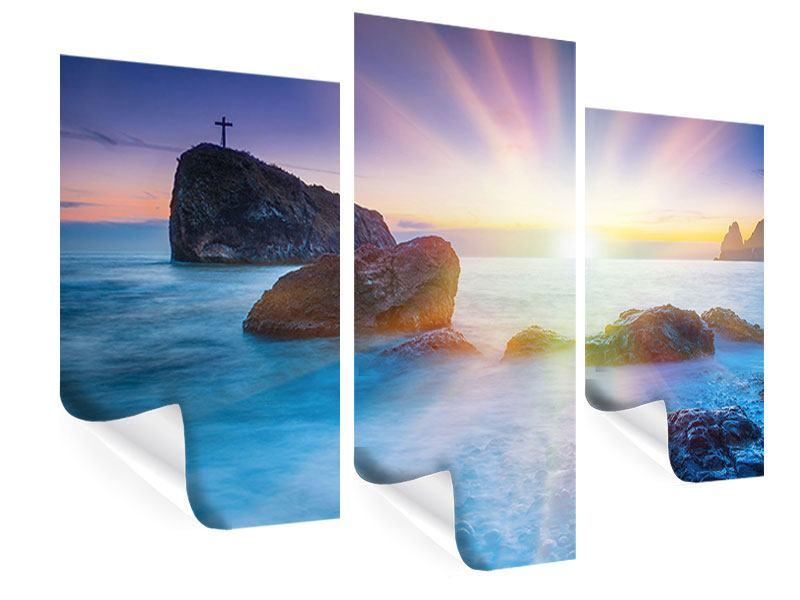 Poster 3-teilig modern Mystisches Meer