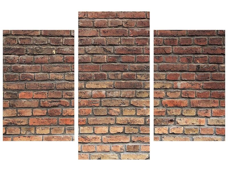 Poster 3-teilig modern Brick Wall