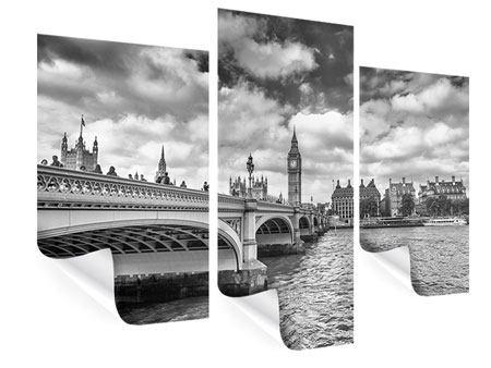 Poster 3-teilig modern Westminster Bridge