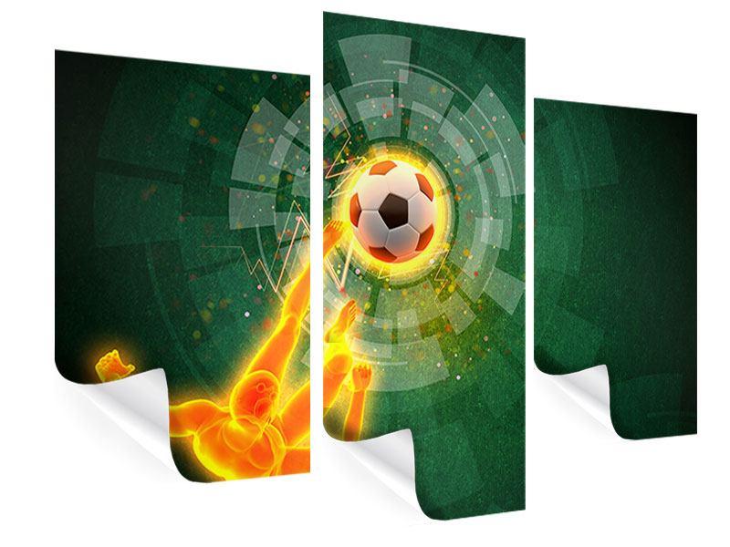 Poster 3-teilig modern Der Kicker