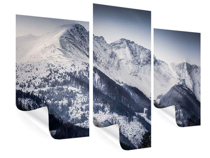 Poster 3-teilig modern Die Berge der Schweiz