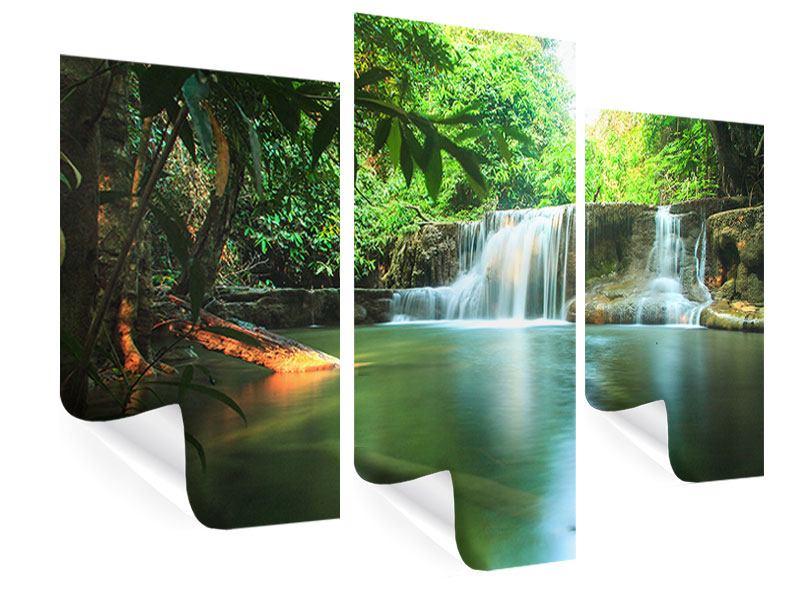 Poster 3-teilig modern Element Wasser