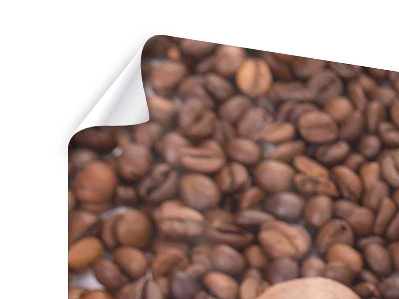 Poster 3-teilig modern Pausenkaffee