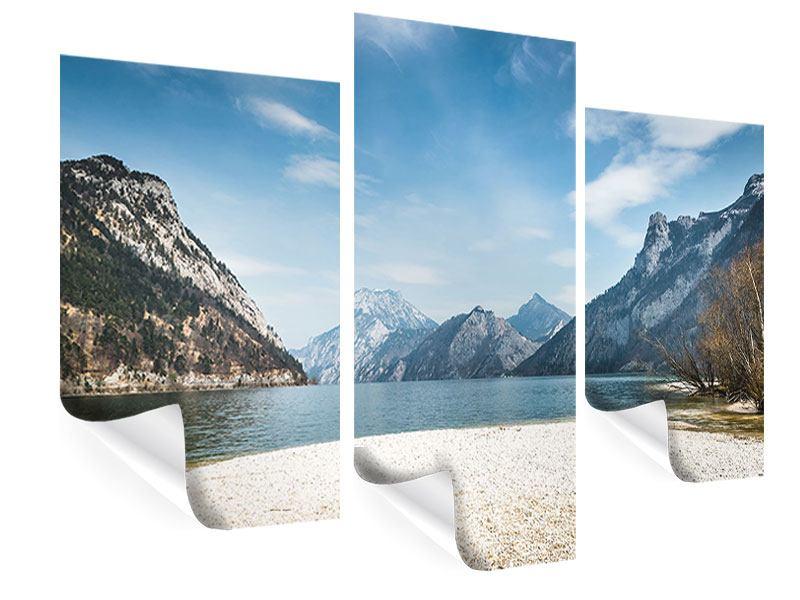 Poster 3-teilig modern Der idyllische Bergsee