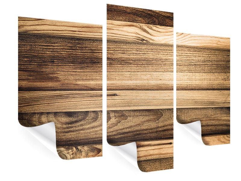 Poster 3-teilig modern Holztrend