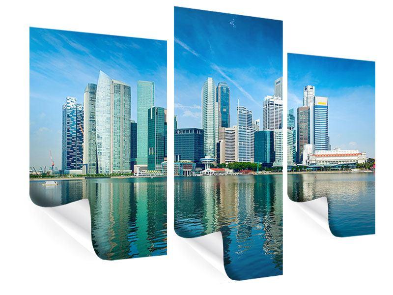 Poster 3-teilig modern Skyline Mexiko-Stadt