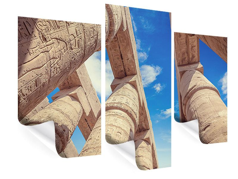 Poster 3-teilig modern Tempelsäulen