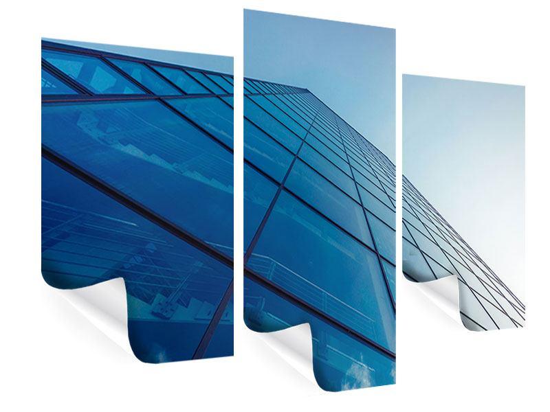 Poster 3-teilig modern Wolkenkratzer-Highlight