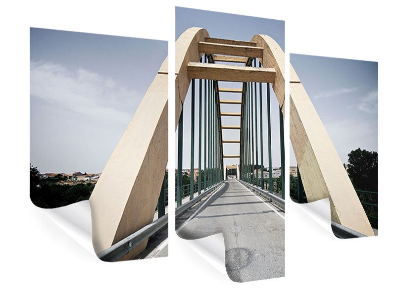 Poster 3-teilig modern Imposante Hängebrücke