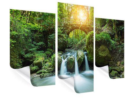 Poster 3-teilig modern Wasserspiegelungen