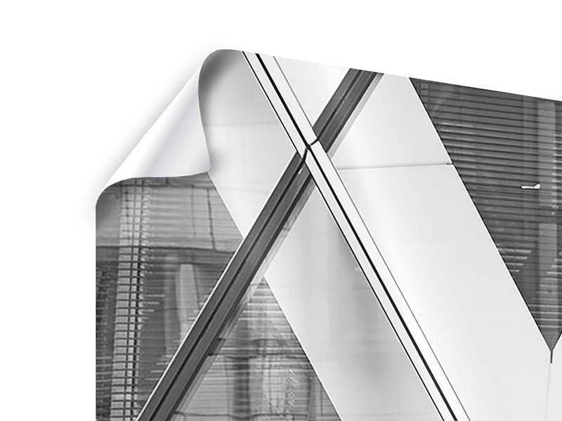Poster 3-teilig modern Teil eines Wolkenkratzers