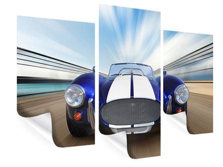 Poster 3-teilig modern Rennwagen