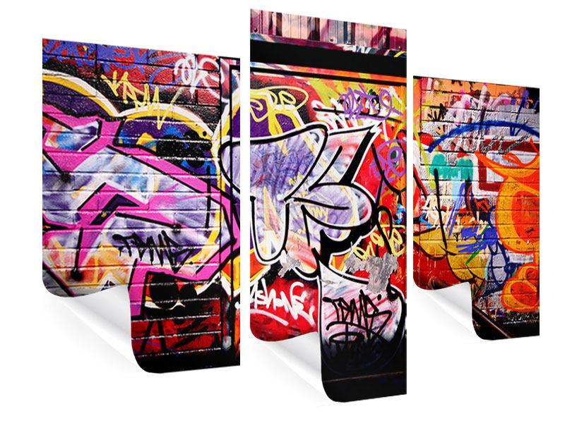 Poster 3-teilig modern Graffiti Kunst