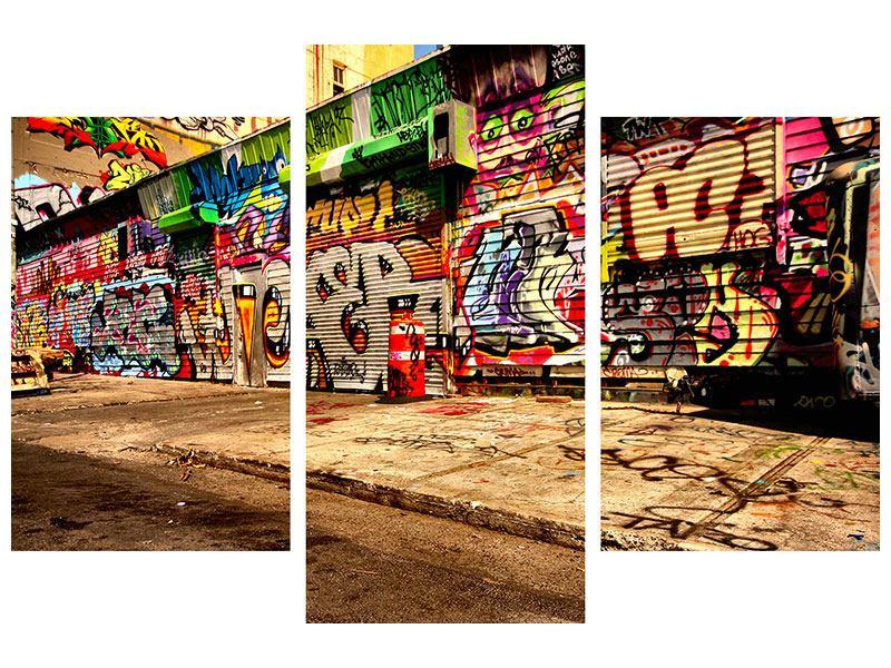 Poster 3-teilig modern NY Graffiti