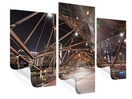 Poster 3-teilig modern Brückenlichter