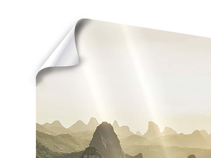 Poster 3-teilig modern Die Berge von Xingping