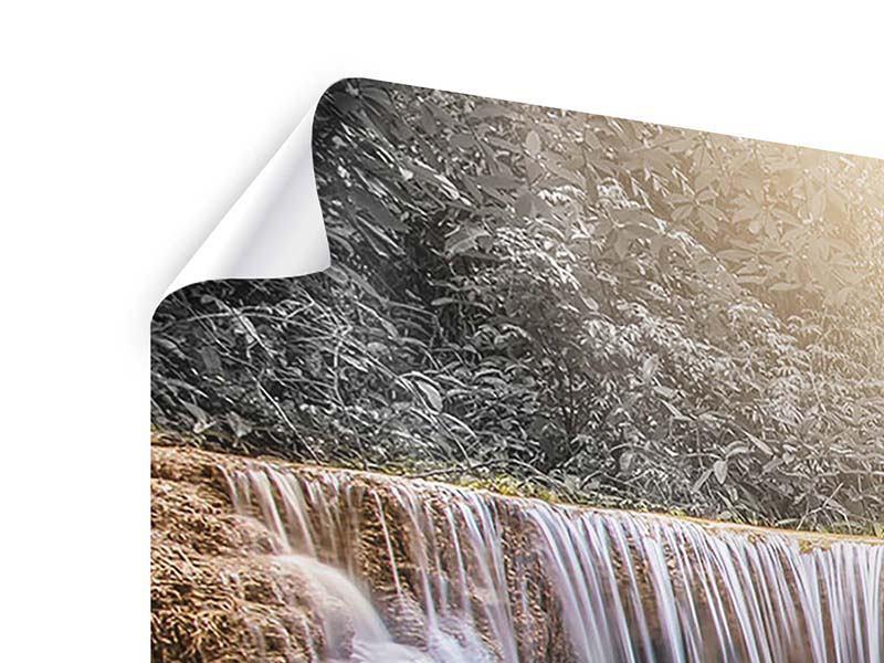 Poster 3-teilig modern Glücklicher Wasserfall