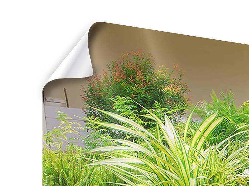 Poster 3-teilig modern Paradiesgarten