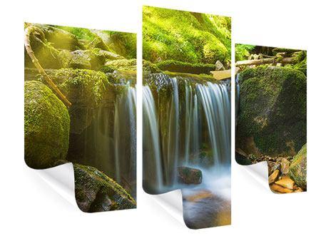 Poster 3-teilig modern Schönheit des fallenden Wassers