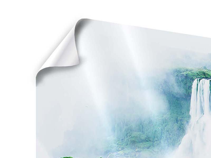 Poster 3-teilig modern Wasserfälle