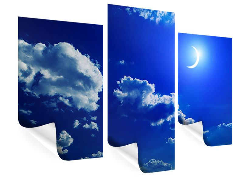 Poster 3-teilig modern Der Mond