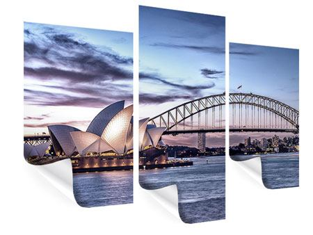 Poster 3-teilig modern Skyline Sydney Opera House