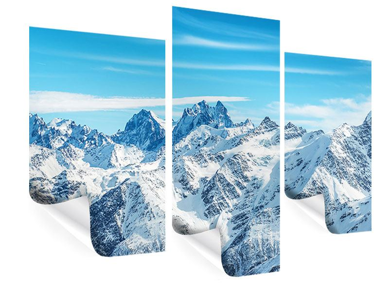 Poster 3-teilig modern Alpenpanorama