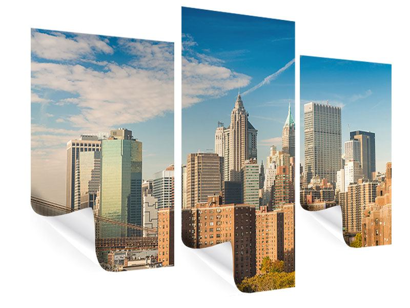 Poster 3-teilig modern Skyline New York