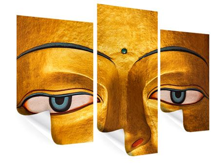 Poster 3-teilig modern Die Augen eines Buddhas
