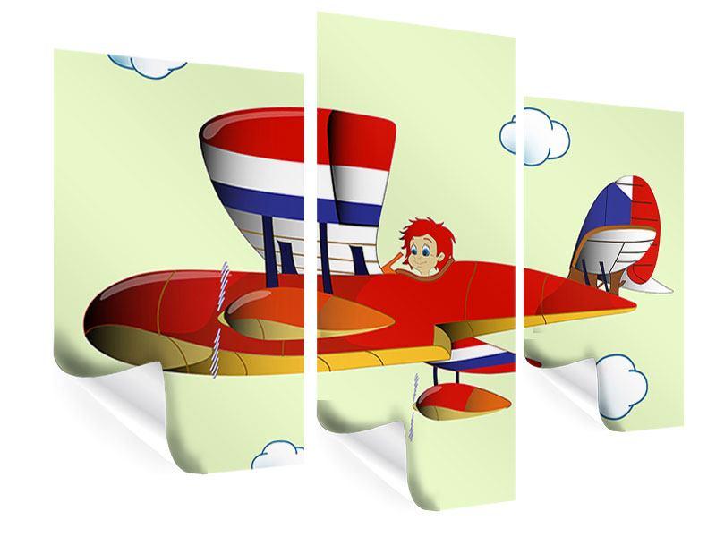 Poster 3-teilig modern Der fliegende Junge